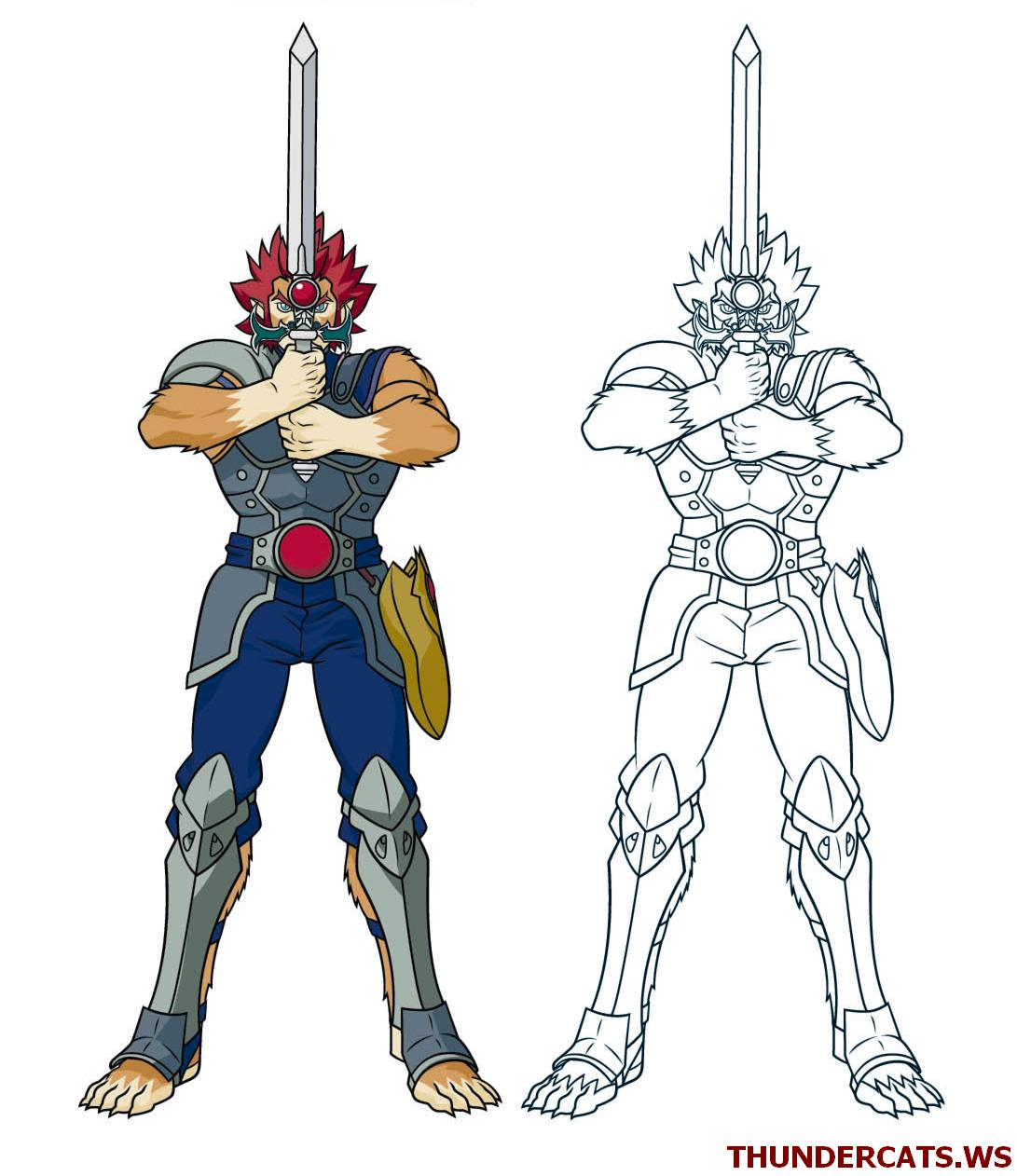 thundercats pp 9 lion o sword - Thunder Cats Coloring Book Pages