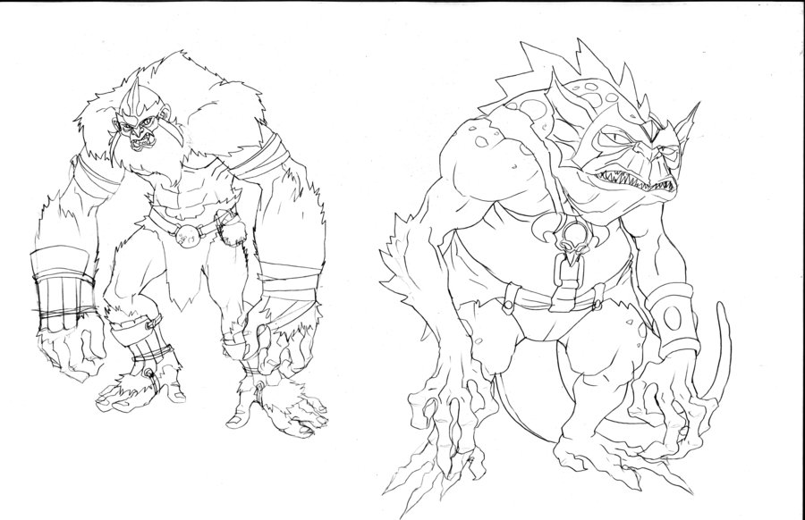 Concept Art For Addicus and Slithe
